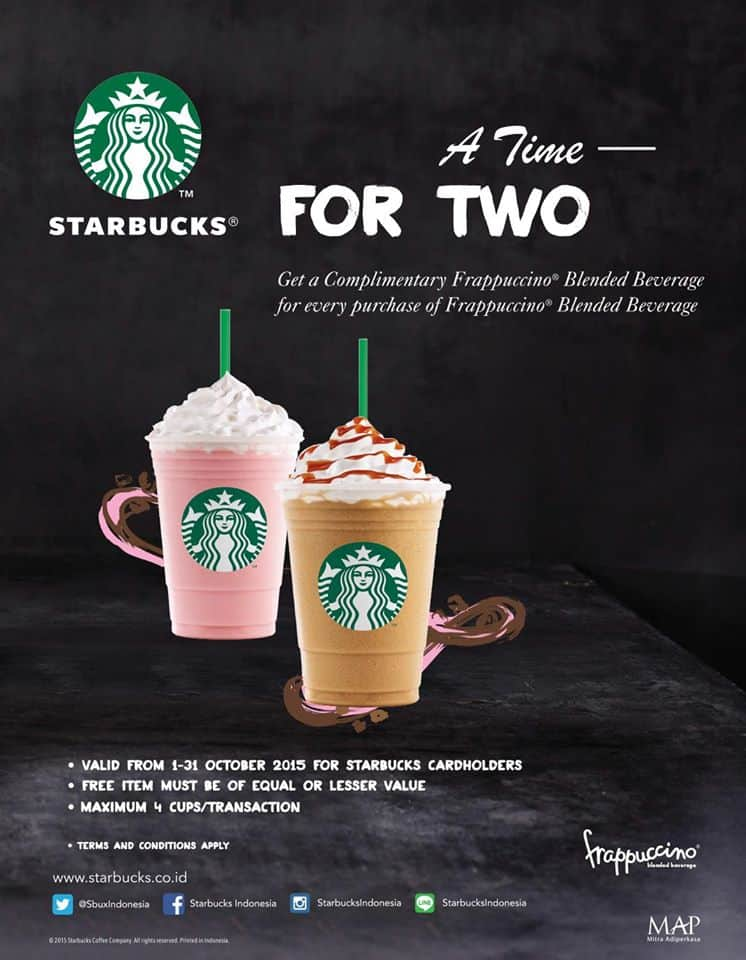 Starbucks Promo A Time For Two Buy 1 Get 1