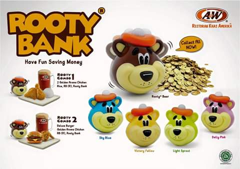 A&W Restaurant Promo Rooty Bank