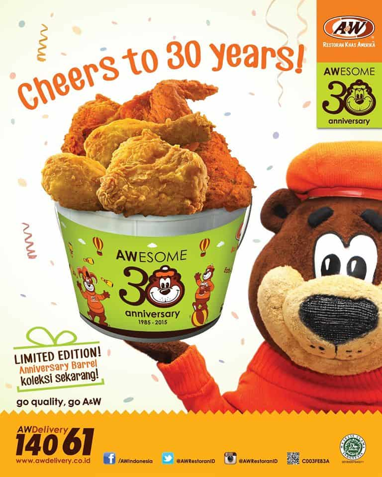 A&W Restaurant Promo Limited Edition Anniversary Barrel
