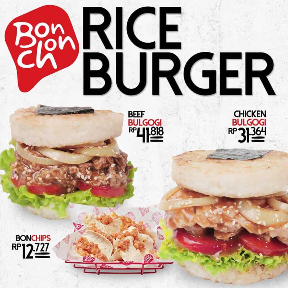 Bonchon Promo Rice Burger Mulai Dari Rp. 31.364,-