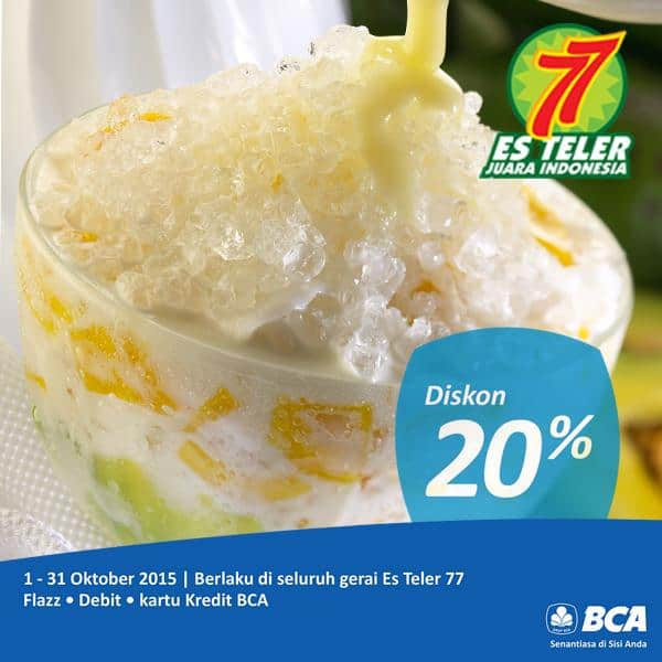 Es Teler 77 Promo Diskon 20%