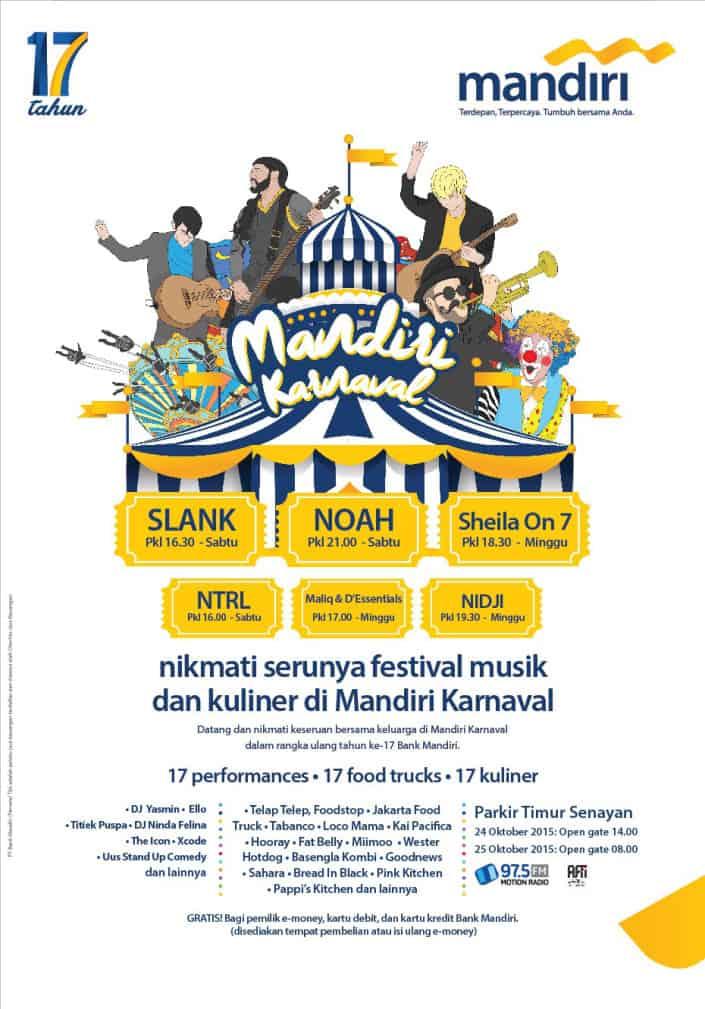 Festival Musik dan Kuliner di Mandiri Karnaval 2015