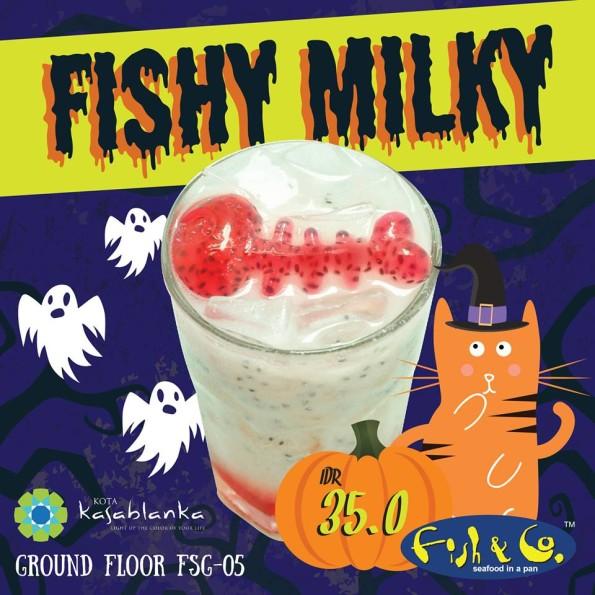 Fish & Co Promo Fishy Milky Edisi Halloween Hanya Rp. 35.000,-