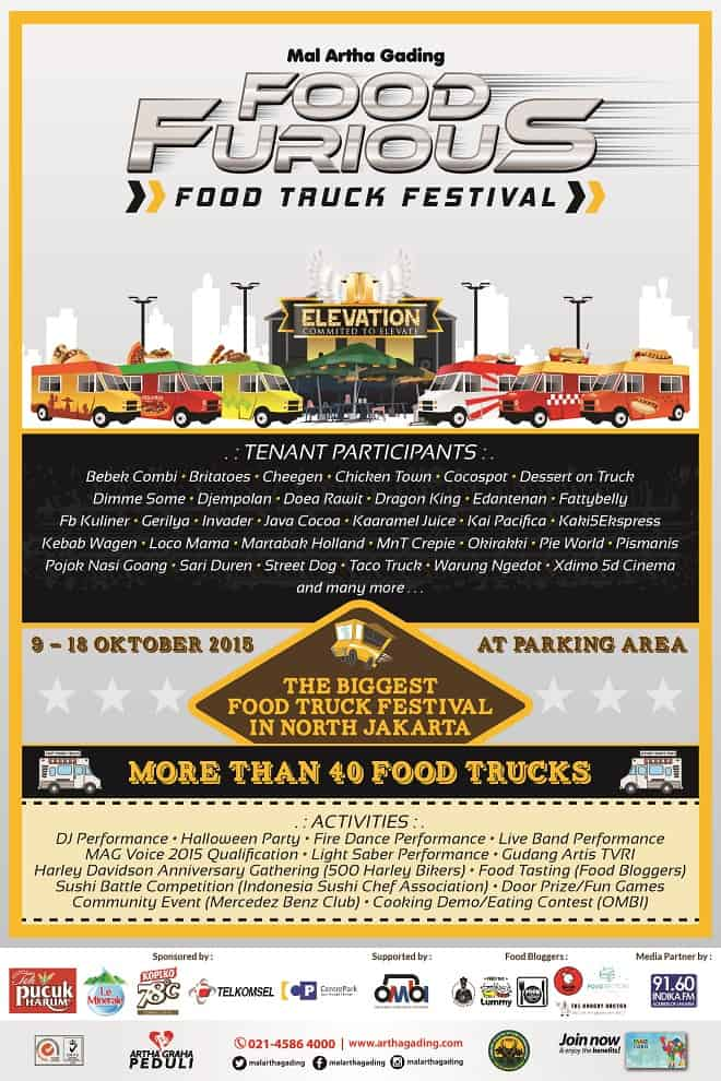Food Furious Food Truck Festival di Mal Artha Gading