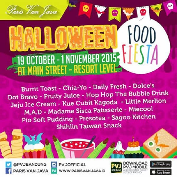 Halloween Food Fiesta di Main Street Resort Level