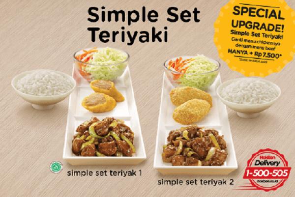 Hoka Hoka Bento Promo Special Upgrade Simple Set Teriyaki
