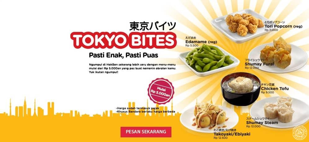 Hoka Hoka Bento Promo Tokyo Bites Harga Mulai Rp. 5000an