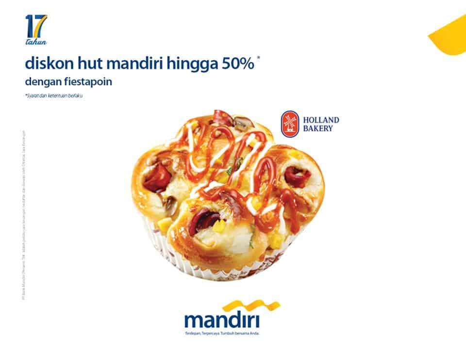 Holland Bakery Promo Diskon Hut Mandiri Hingga 50%