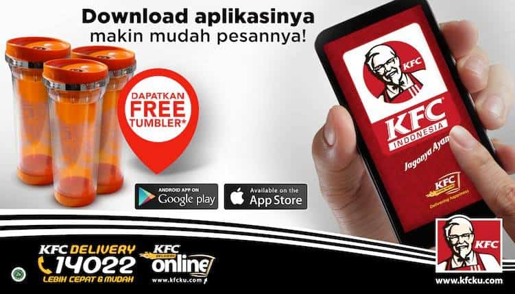KFC Delivery Promo Free Tumbler