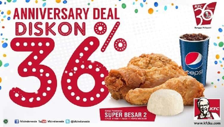 KFC Promo Anniversary Deal Diskon 36%