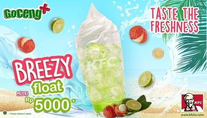 KFC Promo Goceng+ Breezy Float Hanya Rp. 5.000,-