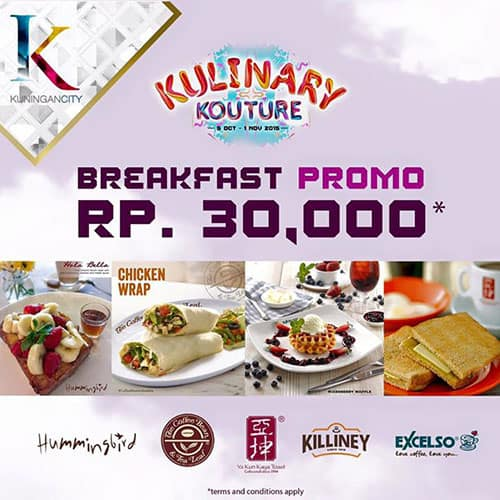 Breakfast Promo Kulinary Kouture Breakfast Promo di Kuningan City