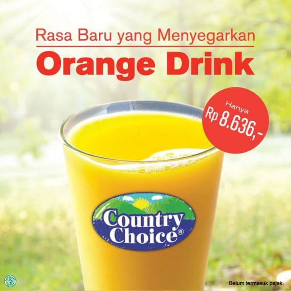 McDonalds Promo Orange Drink Hanya Rp. 8.636,-