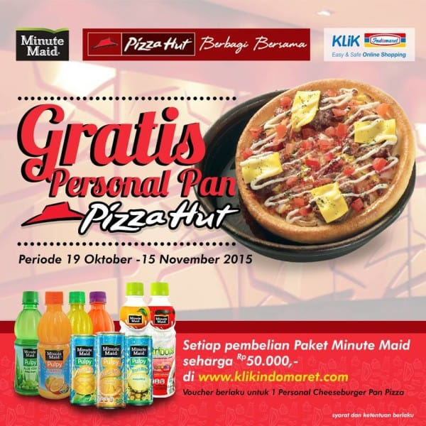 Minute Maid Promo Gratis Personal Pan Pizza Hut