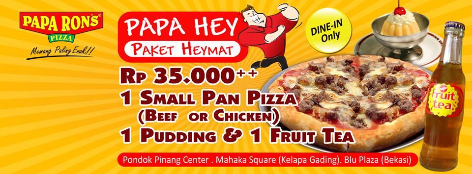 Papa Ron's Pizza Promo Paket Heymat Papa Hey Hanya Rp. 35.000,-