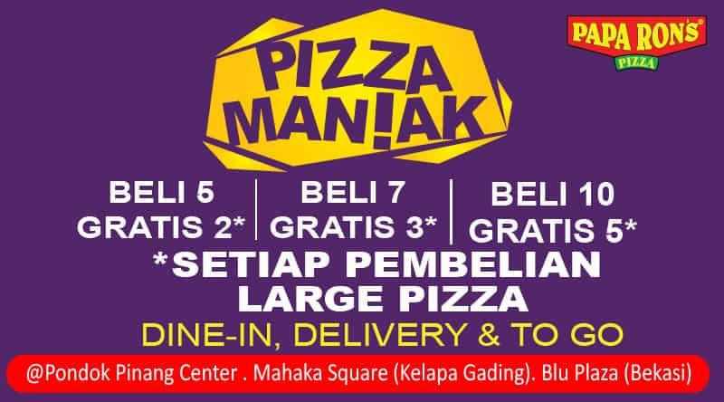 Papa Ron's Pizza Promo Pizza Maniak
