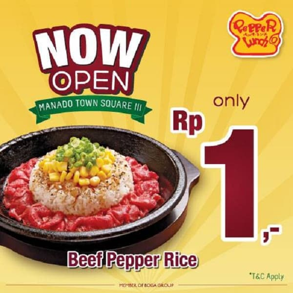 Pepper Lunch Now Open at Manado Town Square III