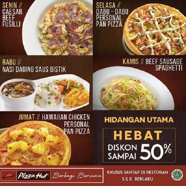 Pizza Hut Promo Hidangan Utama Hebat Diskon Sampai 50%