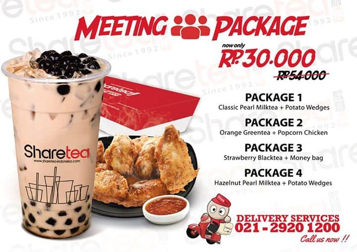 Sharetea Promo Meeting Package Hanya Rp. 30.000,-