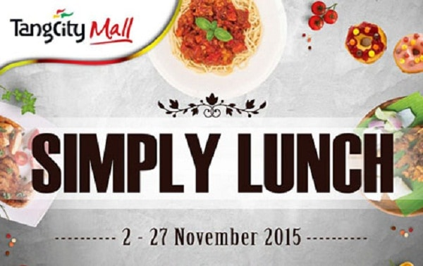 TangCity Mall Promo Simply Lunch Harga Mulai Rp. 22.000,-