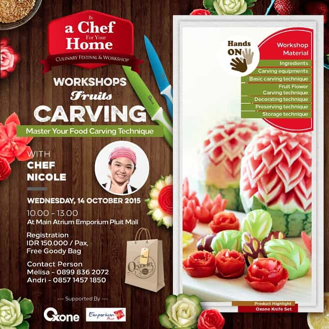 Workshops Fruit Carving 'Be a Chef For Your Home'