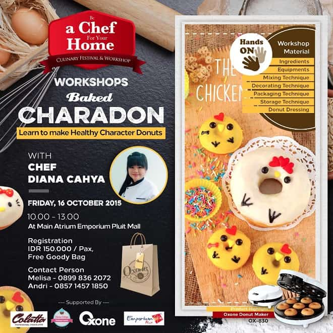 Workshops Baked Charadon 'Be a Chef For Your Home'