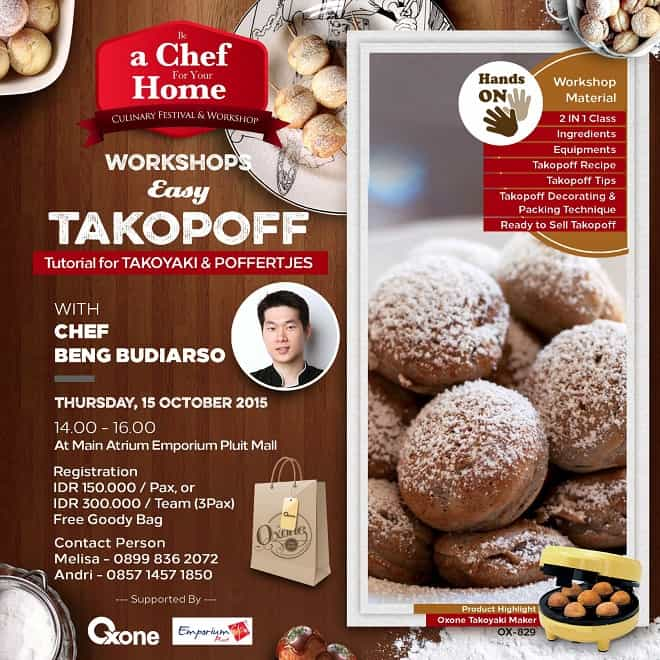 Workshops Easy Takopoff 'Be a Chef For Your Home'