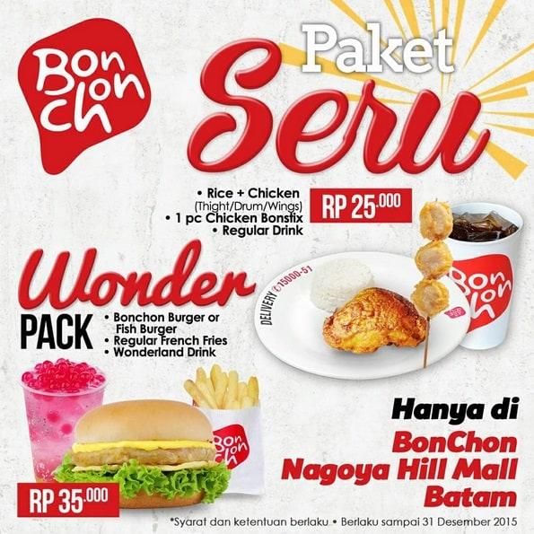 BonChon Promo Paket Seru Rp. 25.000,- & Wonder Pack Rp. 35.000,-