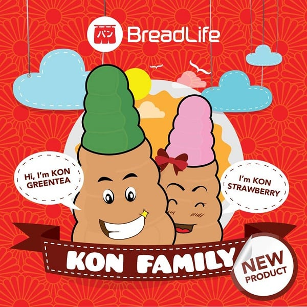 Breadlife Promo Produk Baru Kon Greentea dan Kon Strawberry