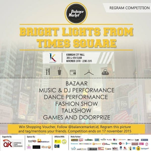 Bright Lights From Times Square di Kuningan City Mall