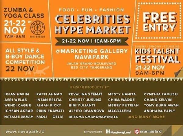 Celebrities Hype Market di Tangerang