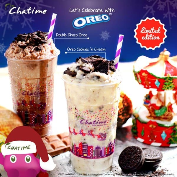 Chatime Menu Baru Limited Edition Double Choco Oreo dan Oreo Cookies 'n Cream