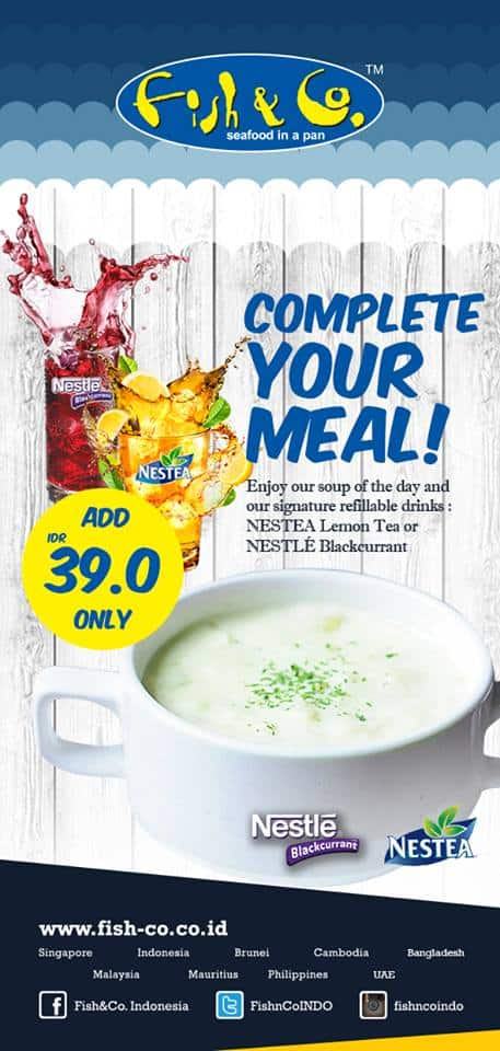 Fish & Co Special Promo Complete Your Meal Hanya Rp. 39.000,-