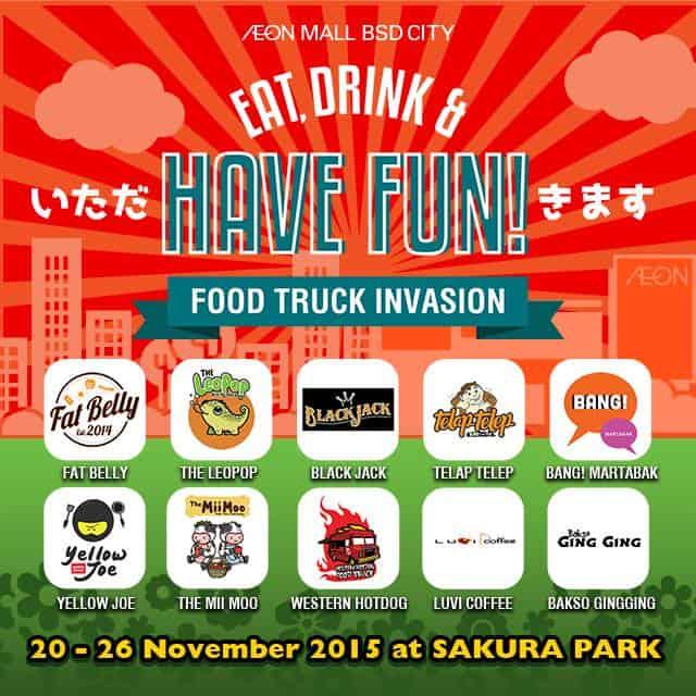 Food Truck Invansion di AEON Mall BSD City