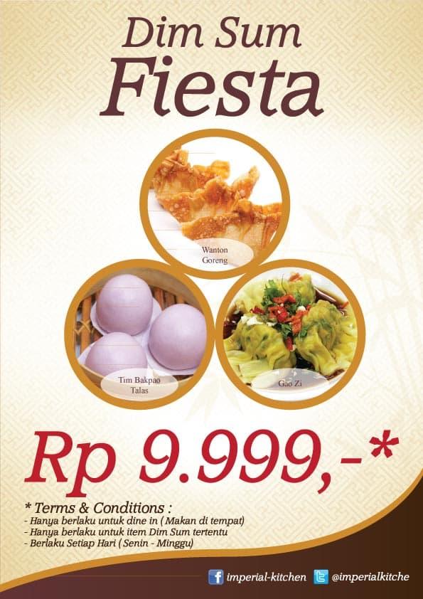 Imperial Kitchen Promo Dim Sum Fiesta Hanya Rp. 9.999,-