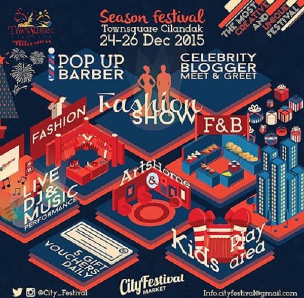 Kunjungi Bazaar F & B di Season Festival Cilandak Townsquare