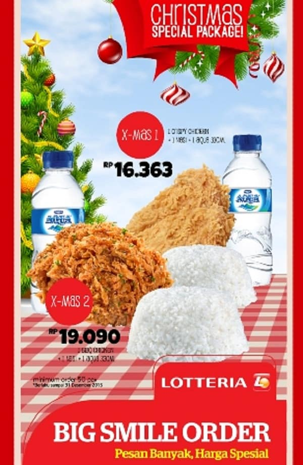Lotteria Promo Christmas Special Package Harga Mulai Rp. 16.363,-
