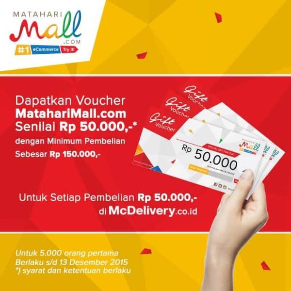 McDonald's Delivery Promo Gratis Voucher Matahari Mall