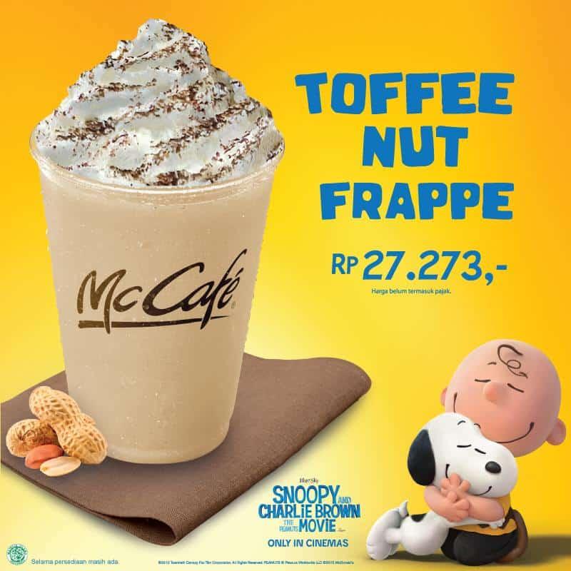 McDonalds McCafe Promo Toffee Nut Frappe Hanya Rp. 27.273,-