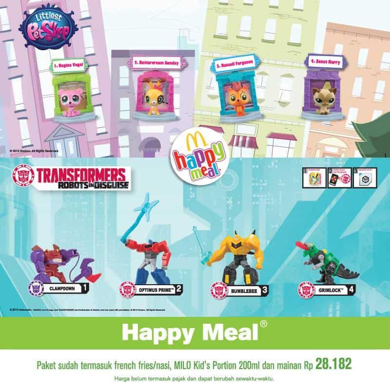 McDonalds Promo Happy Meal Harga Spesial Rp. 28.182,- Bonus Mainan