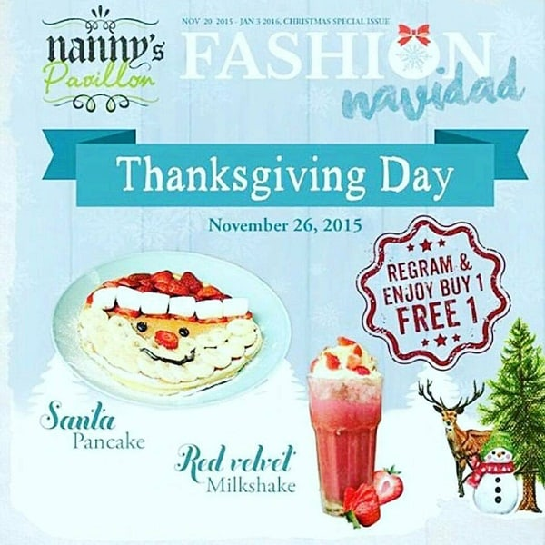 Nanny Pavillon Promo Thanksgiving Day Buy 1 Free 1