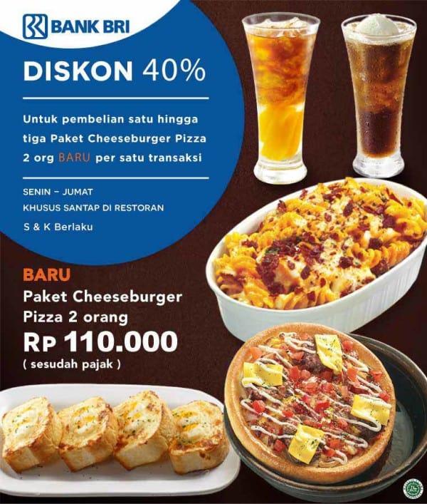 Pizza Hut Promo Diskon 40% Pakai Kartu Kredit BRI