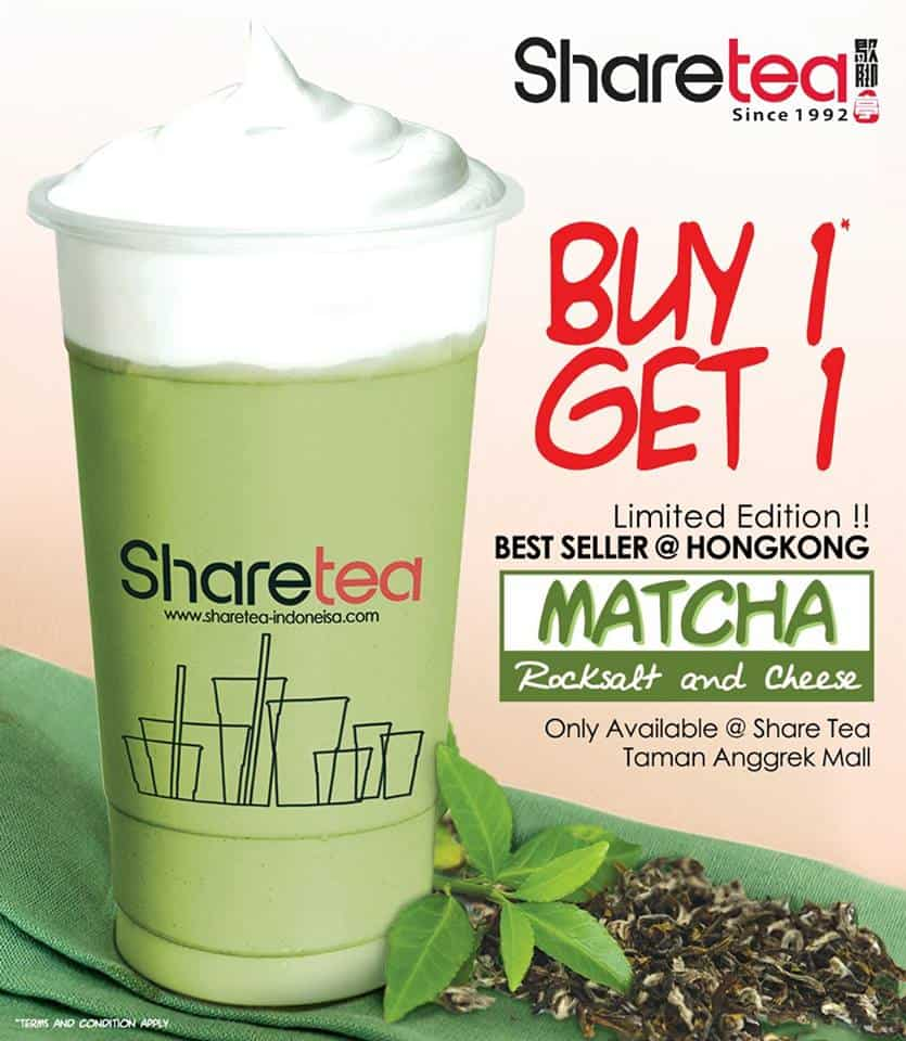 Share Tea Promo Best Seller Limited Edition Buy 1 Get 1