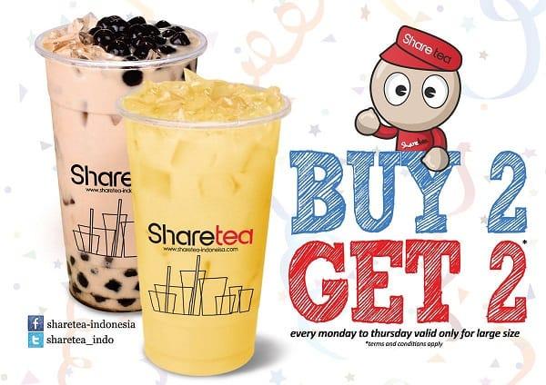 Sharetea Promo Buy 2 Get 2