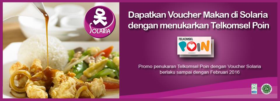 Solaria Promo Voucher Makan Gratis dari Telkomsel Poin