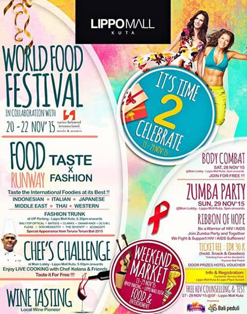 World Food Festival dan Food Taste di It's Time 2 Celebrate Lippo Mall Kuta