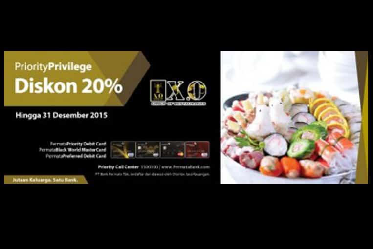 XO Restaurant Promo Diskon 20% Pakai Kartu Kredit Bank Permata