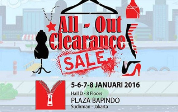 All Out Clearance Sale di Plaza Bapindo