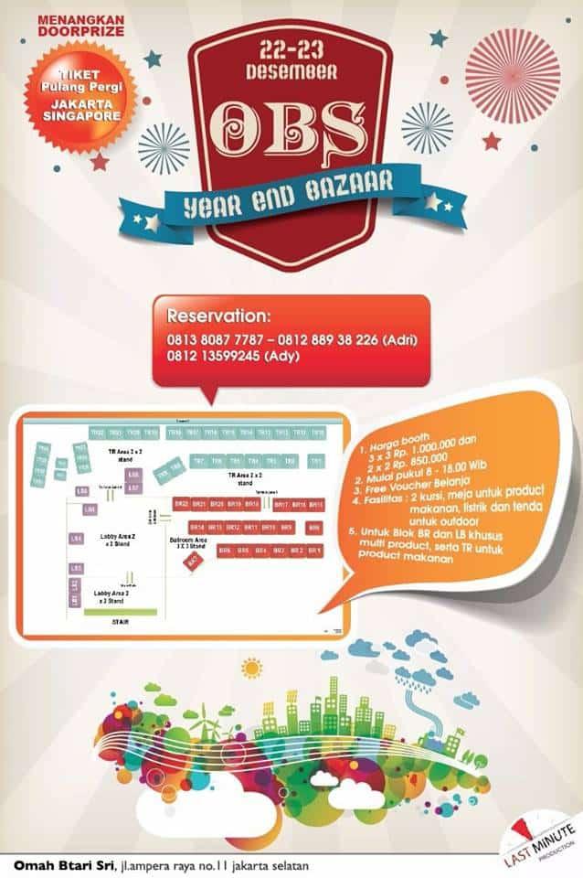 Bazaar Vaganza Multiproduk di OBS Kemang