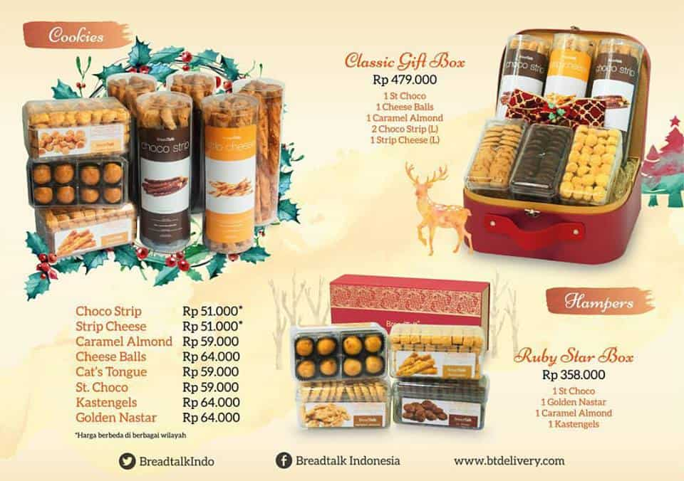 Breadtalk Christmas Dry Cake Promo Harga Mulai Rp. 51.000,-